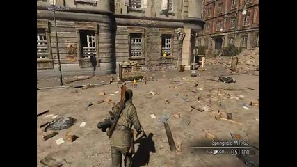 Sniper Elite V2 - Mission 2 gameplay: Schoneberg Convoy