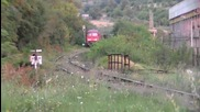 232 663-5 пристига с товарен влак.