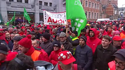 Belgium: Trade unions protest against pension reforms in Brussels