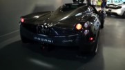 Testing sound system in the Pagani Huayra Carbon Edition