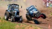 Щури гонки с трактори в Русия