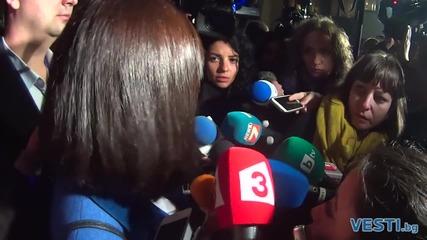 Кунева на влизане в НДК след изборите