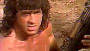 Силвестър Сталоун по време на снимките си за филмите Рамбо 3 (1988) и Роки 5 (1990)