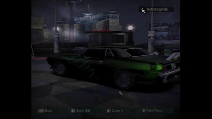 My cars in need for speed Carbon Vbox7