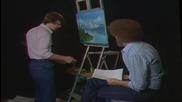 S03 Радостта на живописта с Bob Ross E13 - спокойни води finale ღобучение в рисуване, живописღ