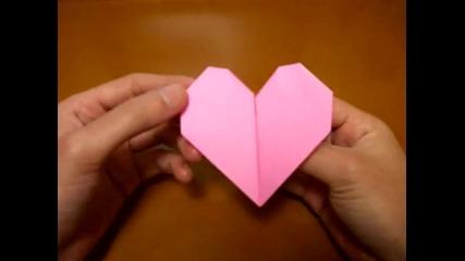Как се прави Тупкащо сърце от хартия *оригами*