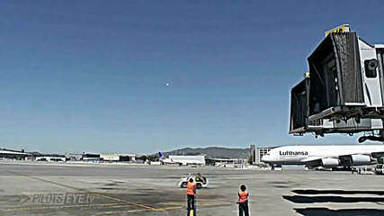 Landing Sfo San Francisco Airport Onboard Airbus A380-800