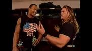 WWE Rock И Jericho - Смешки В Съблекалнята