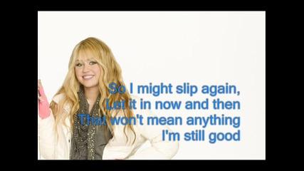 I'm Still Good - Hannah Montana Караоке/инструментал