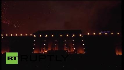 Фойерверки над Волгоград за Деня на Победата