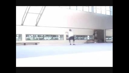 Wushu training at Shanghai University of Sports 2007