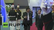 Panama: Evo Morales arrives at Summit of the Americas
