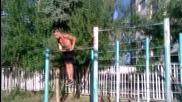 Стойка на ръце на лост + fail - Радостин Колев