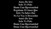 [текст] Daddy Yankee & Luis Fonsi Dame Una Oportunidad Letra
