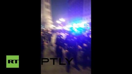 USA: Police flood Oakland's streets, make arrests at police brutality demo