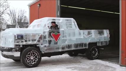 Пикап от пет тона лед с метално шаси