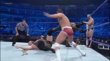 Randy Orton, Sheamus Big Show vs Daniel Bryan, Henry Rhodes - Wwe Smackdown 42012