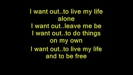 I Want Out - Karaoke - Helloween - Lyrics