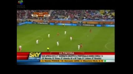 Разгром! Портогалия 7 - 0 С.корея Mondial 2010
