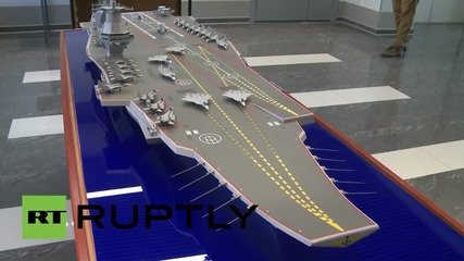 Russia: Mistral replacement? Storm Supercarrier model unveiled in St Petersburgx