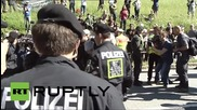 Germany: Anti-G7 sit-down protesters hauled away by police