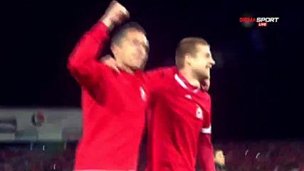 Феновете на ЦСКА и тяхната емоция по време на финала