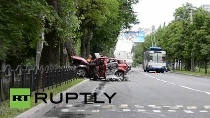 Ukraine: Suspected car bomb hospitalises DPR head Zakharchenko's secretary