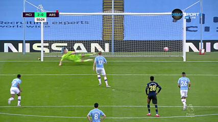 Глупост на Давид Луис му донесе червен картон и втори гол за Сити