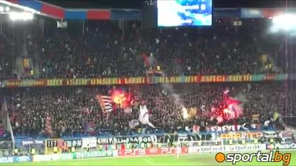 Атмосферата на Базел 2:1 Манчестър Юнайтед