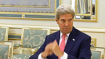 Ukraine: Poroshenko meets Kerry to discuss East Ukraine ceasefire, reforms