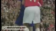 гол на C.ronaldo (аrsenal - Manchester United 0 - 2)