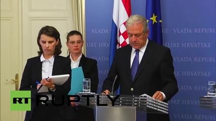 Croatia:  EU Migration Commissioner announces €190 million for Croatia to deal with refugee crisis