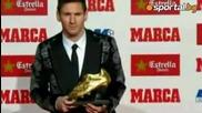 Меси получи Златната обувка от Стоичков