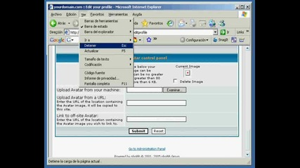 Xss injection in image formats