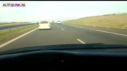 Лудак с Трабант кара с над 180 км-ч !