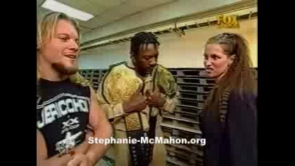 Stephanie & Booker T Backstage
