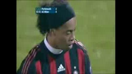 Ronaldinho Free Kick Goal - Portsmouth - Ac Milan 16