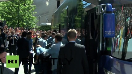 Germany: FC Barcelona players arrive in Berlin for Champions League final with Juventus