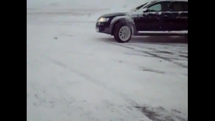 Audi A6 Allroad in snow 242 Ps Crailsheim