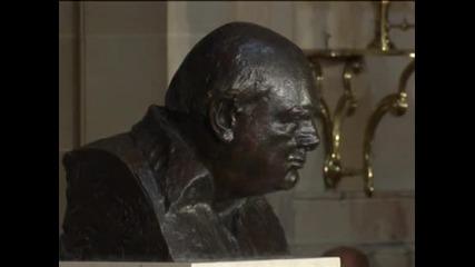 Откриха бюст на Уинстън Чърчил в Капитолия