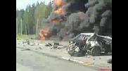 18+ Автомобилна катастрофа в Русия ( Забранено за хора със слаби сърца )