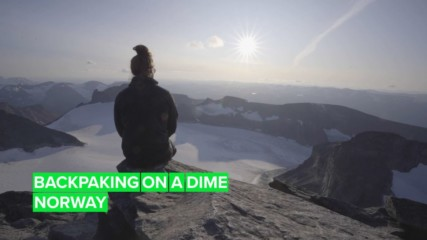 Backpacking up the tallest mountain in Norway