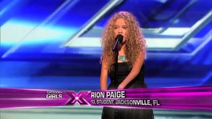 Трябва да я чуете ! Rion Paige - Blown away (xfactor Us)