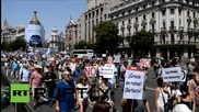Spain: Spaniards rally in support of Greek 'Oxi' vote on referendum day