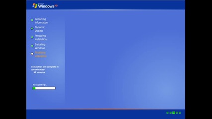 Преинсталиране на Windows Xp (hd)