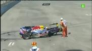 Най - Зрелищната Катастрофа Във F1 - Mark Webber