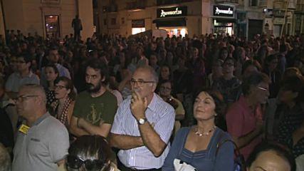 Malta: Protesters hold vigil for murdered journalist Daphne Caruana Galizia