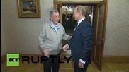 Russia: Archive footage shows Putin congratulating Primakov on his last birthday