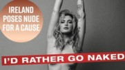 Ireland Baldwin gets naked for PETA