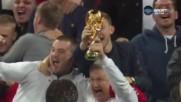 """Англия подпечата билетите за Русия, но бе освиркван на """"Уембли"""""""